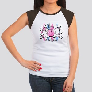 Queen of the Lanes Women's Cap Sleeve T-Shirt